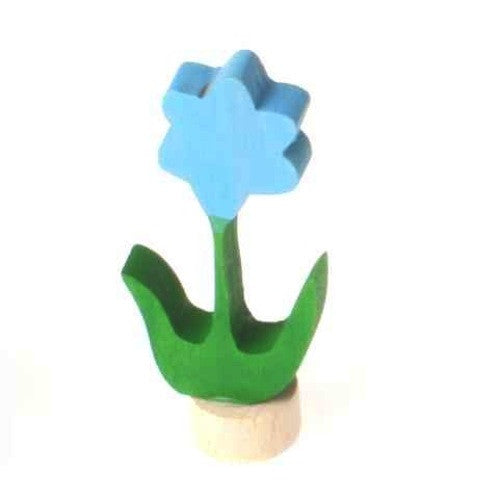 Grimms Wooden Birthday Ring Decoration, Blue Flower