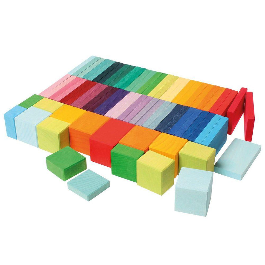 Grimms Spiel & Holz | Color Chart Rally Blocks | Bella Luna Toys