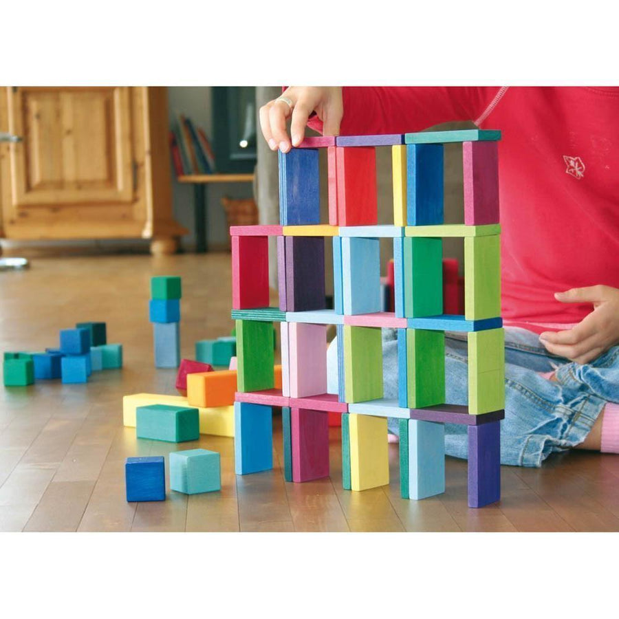 Color Chart Rally - Wooden Building Blocks | Bella Luna Toys