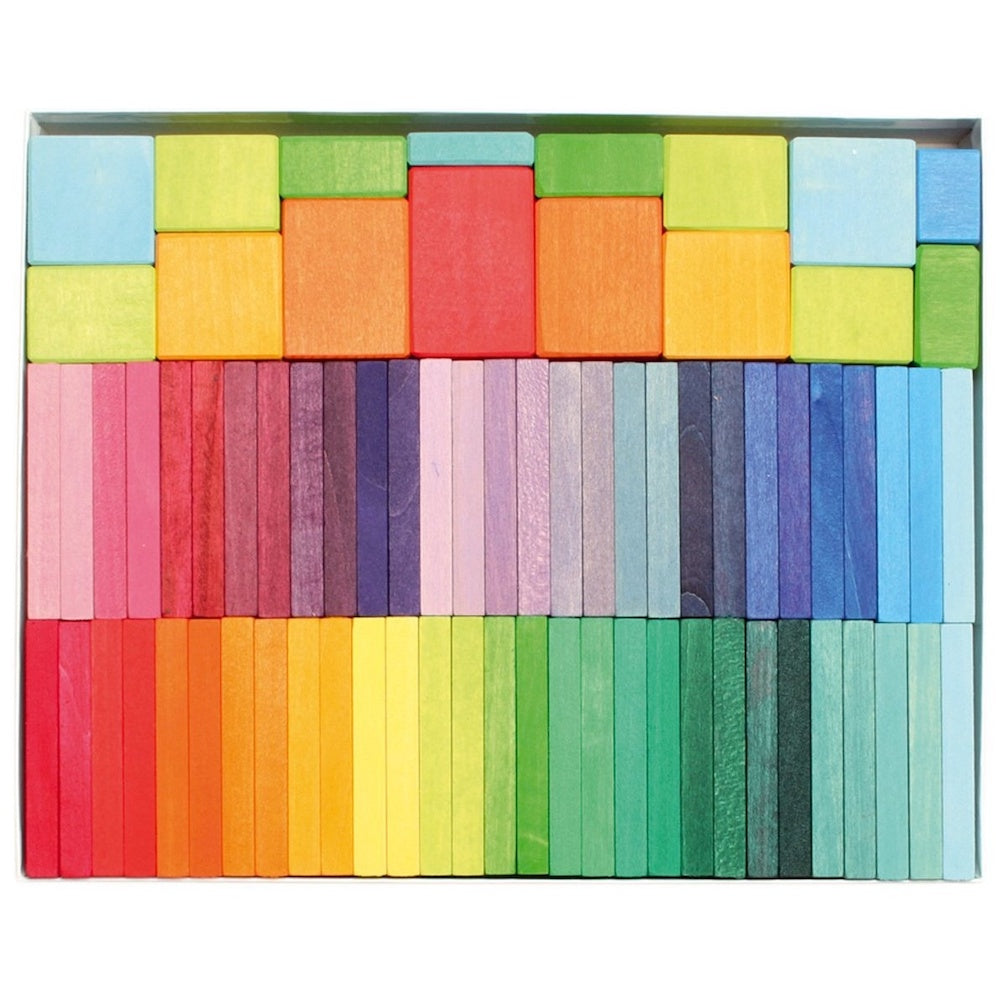 Grimms Color Chart Rally - Wooden Blocks Set | Bella Luna Toys