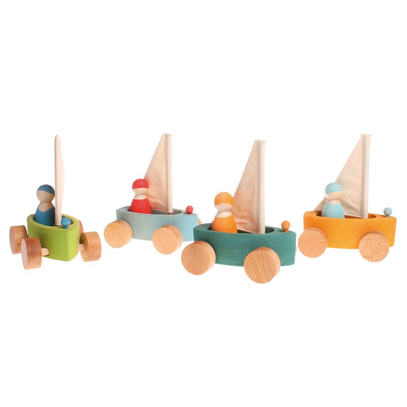 Grimms Land Yachts Wooden Toy Sailboats
