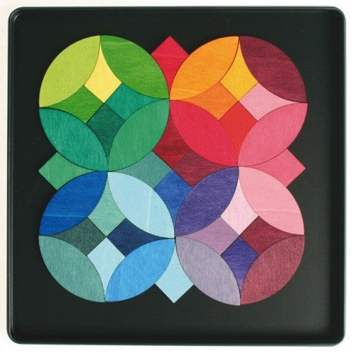 Grimms Wooden Magnetic Tiles - Circles