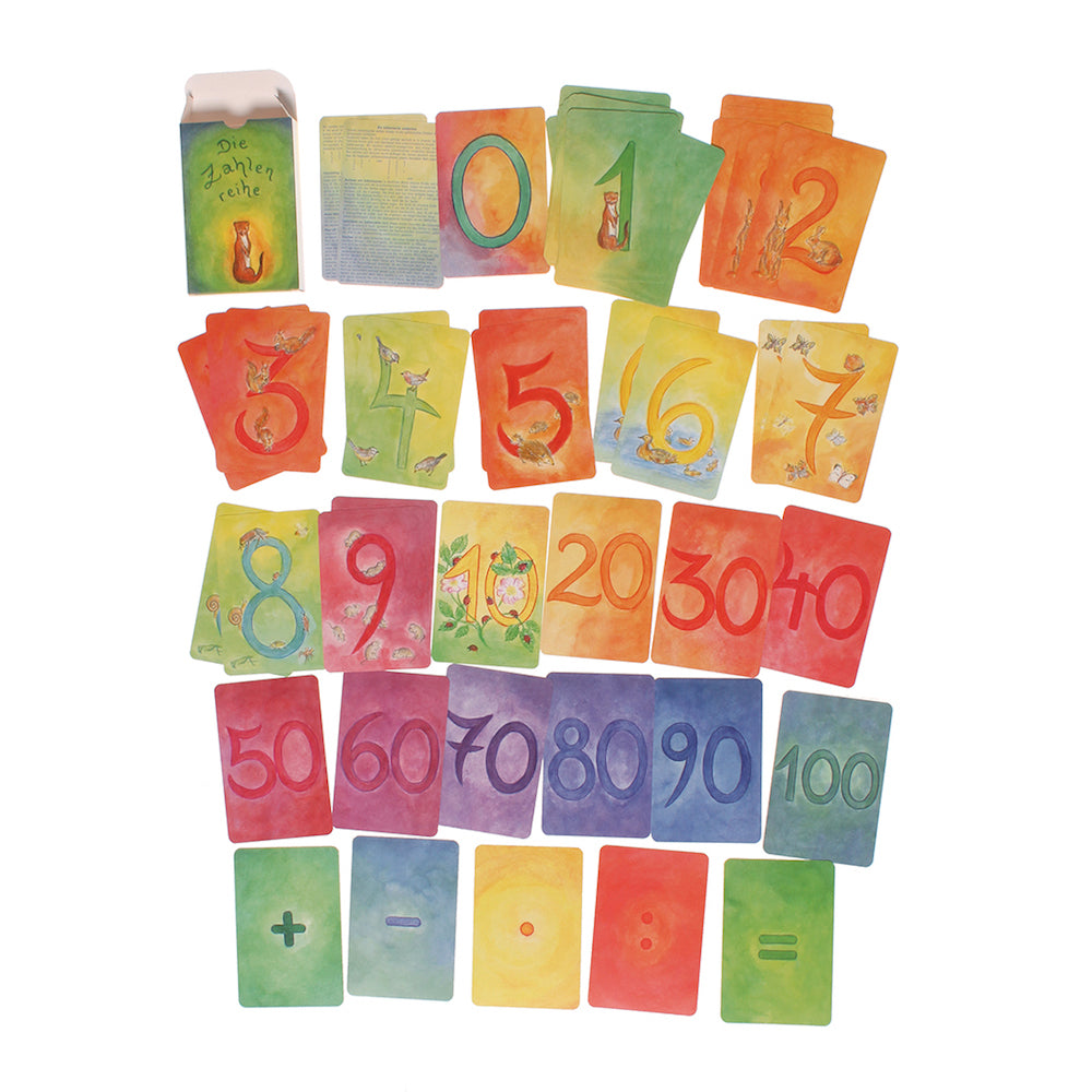Illustrated Number Math Cards, Grimms Spiel & Holz | Bella Luna Toys