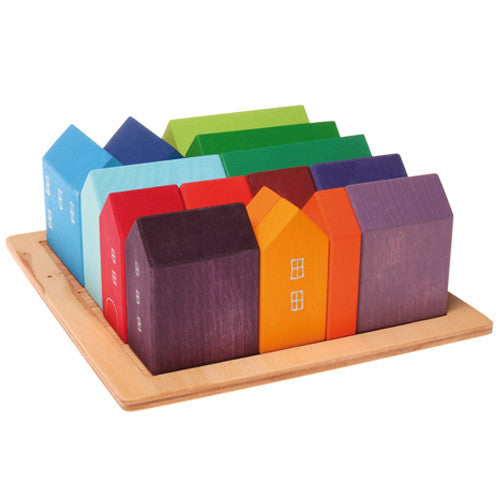 Grimm's Small Houses - Village Building Blocks Set
