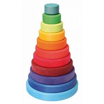Grimms Rainbow Tower, Wooden Stacking Toy