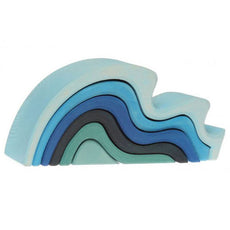 Water Waves Wooden Nesting Blocks, Grimm's Spiel & Holz