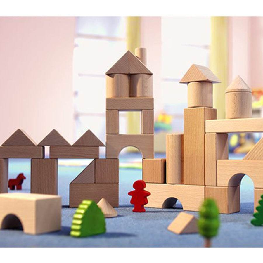 HABA 1071 - Basic Wooden Building Blocks - Small Starter Set