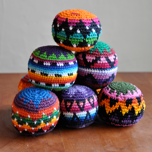 Hacky Sacks Juggling Balls Fair Trade Guatemalan
