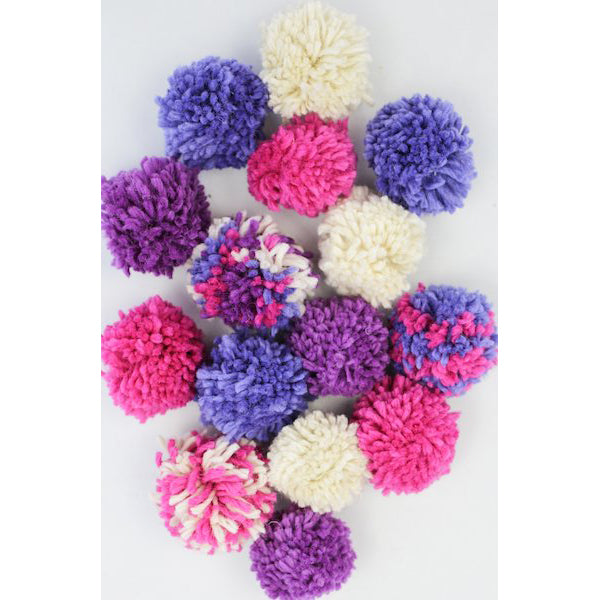 Harrisville Designs Wool Pom Pom Garland Craft Kit for Kids | Purples | Bella Luna Toys