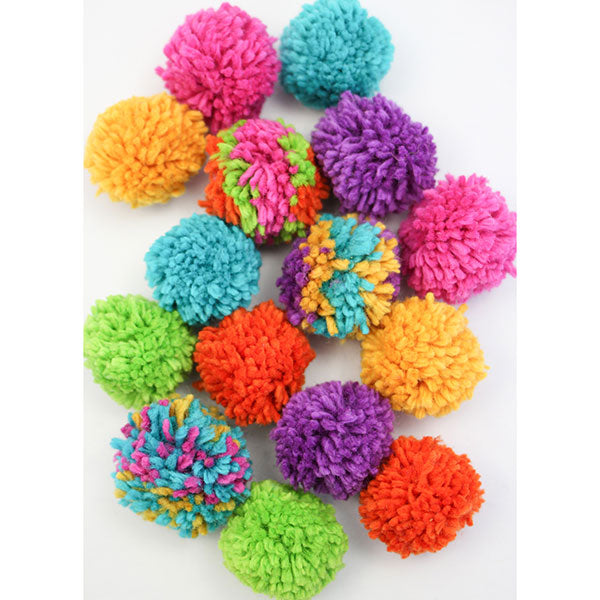 Harrisville Designs Wool Pom Pom Garland Craft Kit for Kids | Rainbow | Bella Luna Toys