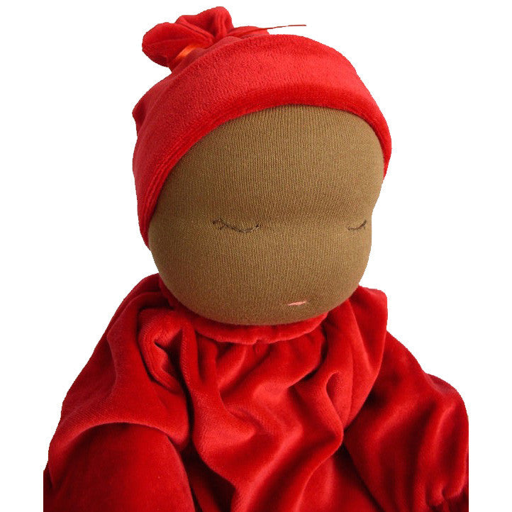 Heavy Baby Weighted Millet Doll - Red | Cocoa Skin