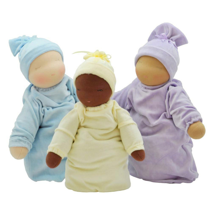 Little Heavy Baby Doll Colors - Light Blue, Yellow, Lavender