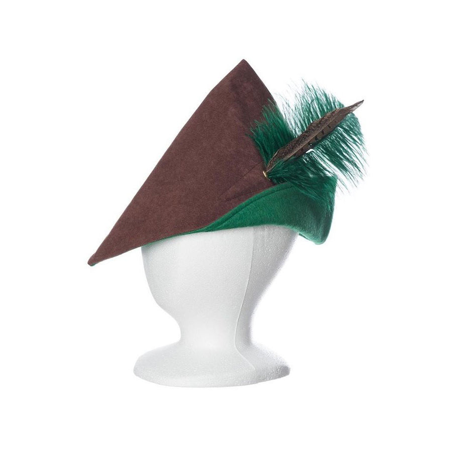 Kids Boys Robin Hood Hat Brown and Green | Bella Luna Toys