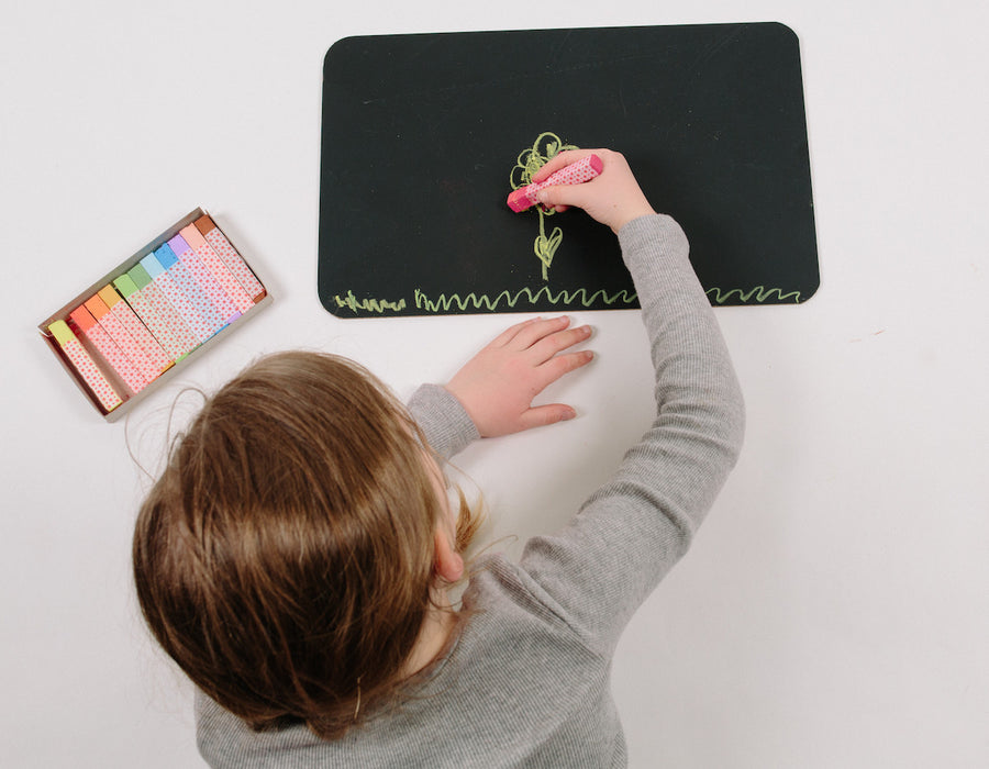 Kid's Chalkboard and Colored Chalk