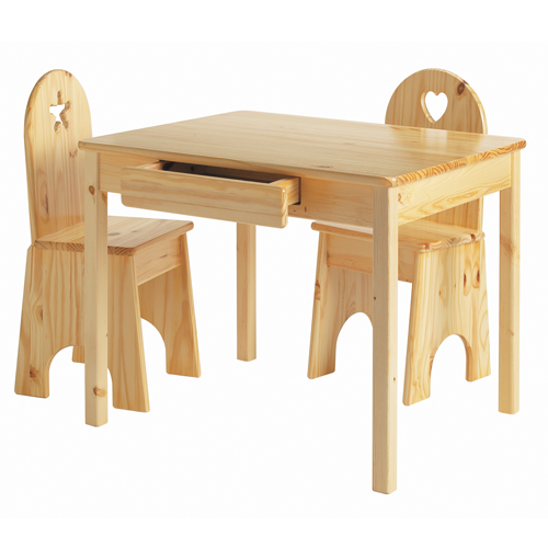 Kids Wooden Table Chairs Set Children
