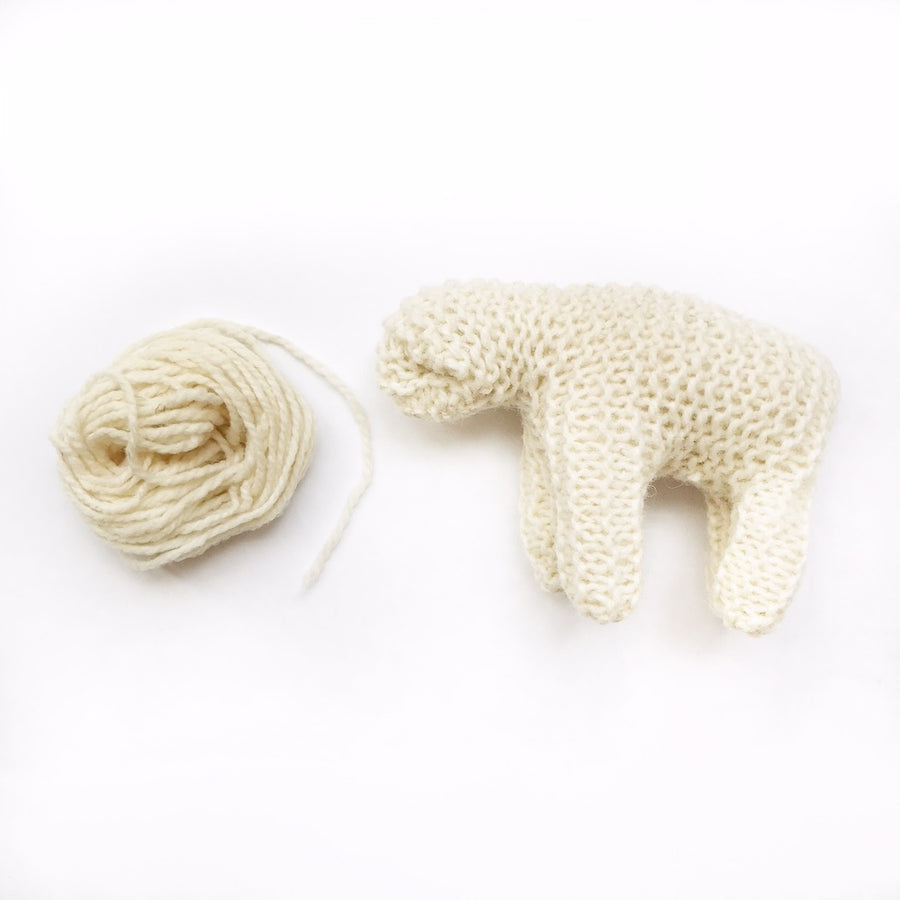 Organic Knitted Sheep Kit - Bella Luna Toys