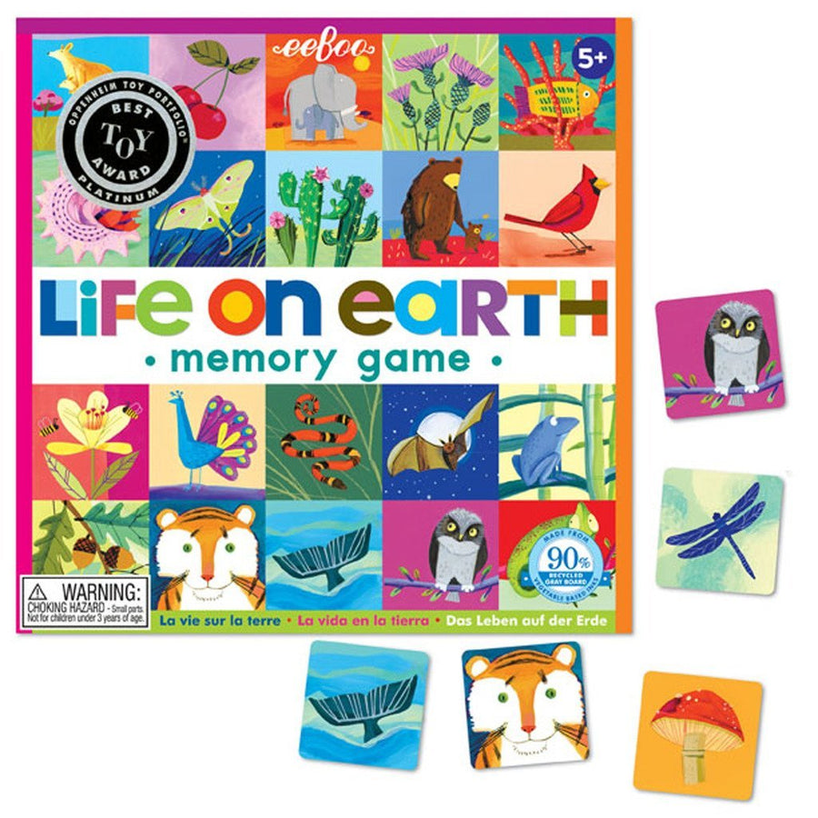 eeBoo Life on Earth Matching Game Tiles - Bella Luna Toys