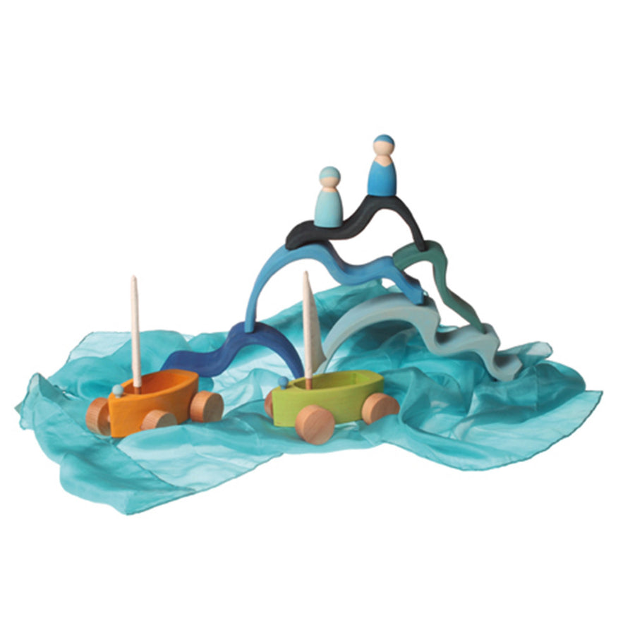 Little Land Yachts - Wooden Toy Sailboats - Grimm's Spiel Holz