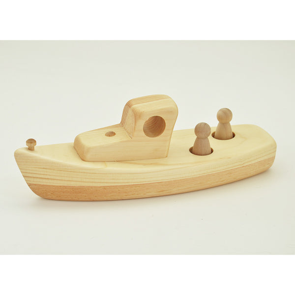 Maine Lobster Boat Wooden Toy
