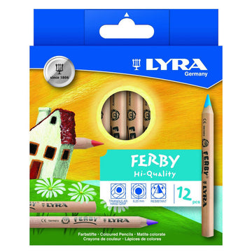 Lyra Ferby Colored Pencils, 12 Unlacquered
