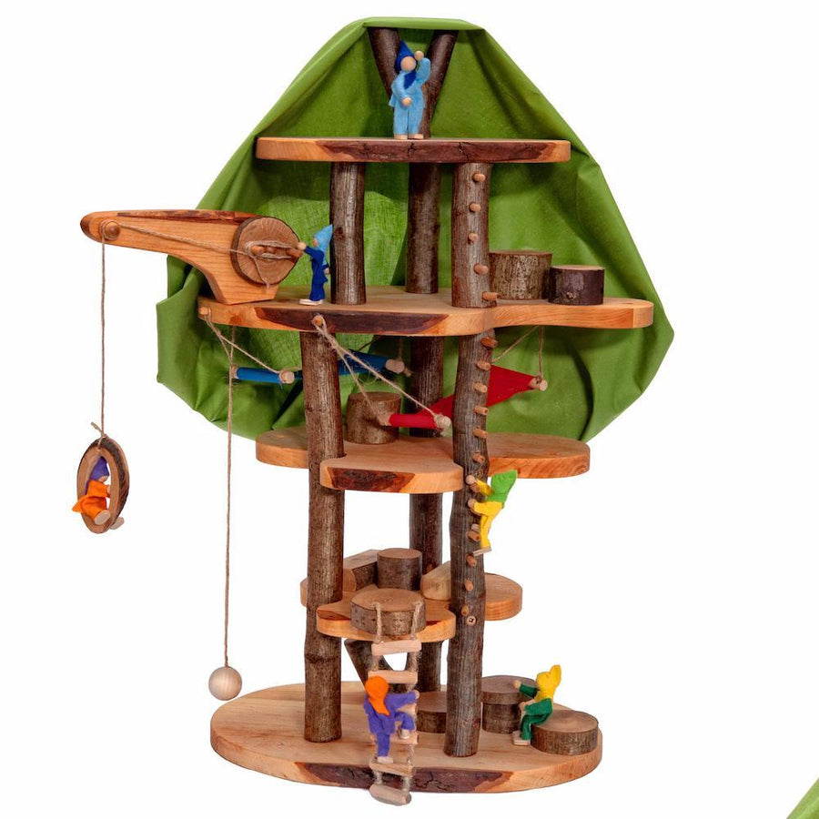 Magic Wooden Fairy Treehouse - Dolls House - Bella Luna Toys