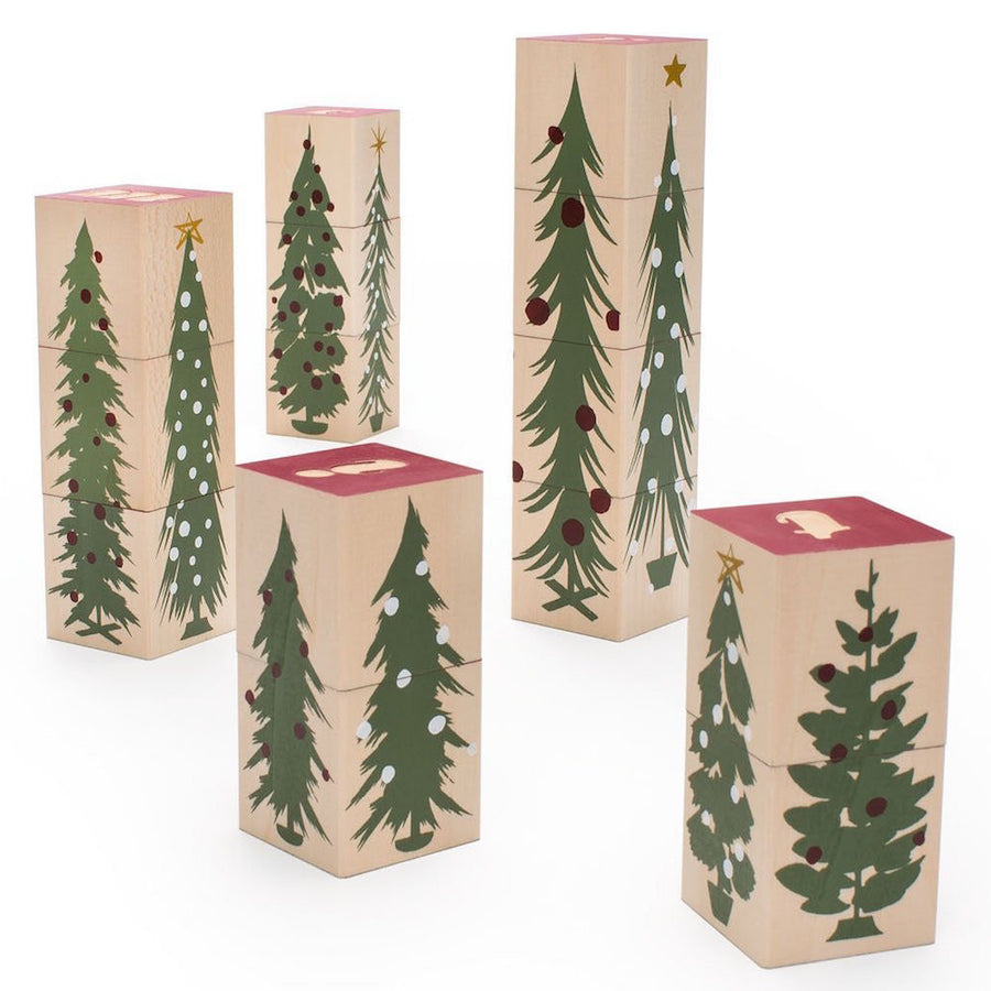 Merry Christmas Wooden Alphabet Blocks