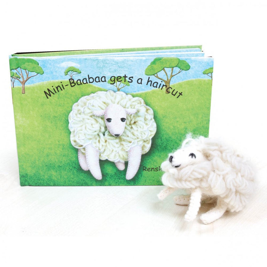 Mini Baabaa Gets a Haircut - Book and Sheep Toy