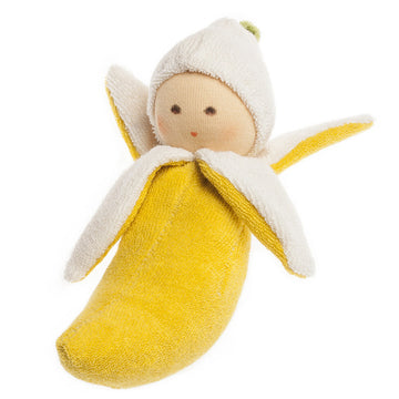 Organic Banana Rattle Doll