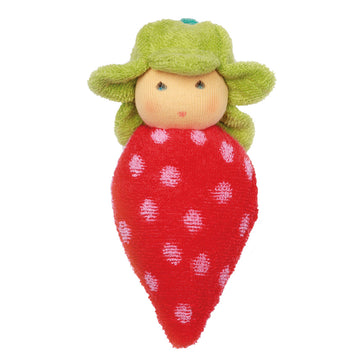 Nanchen Strawberry Rattle Waldorf Doll - Bella Luna Toys