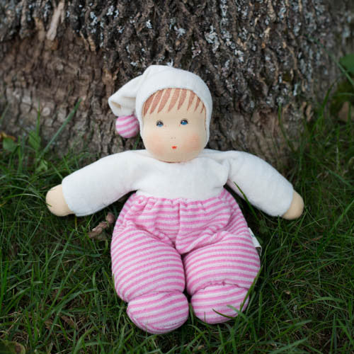 Nanchen Organic Waldorf Doll - Pink Stripes