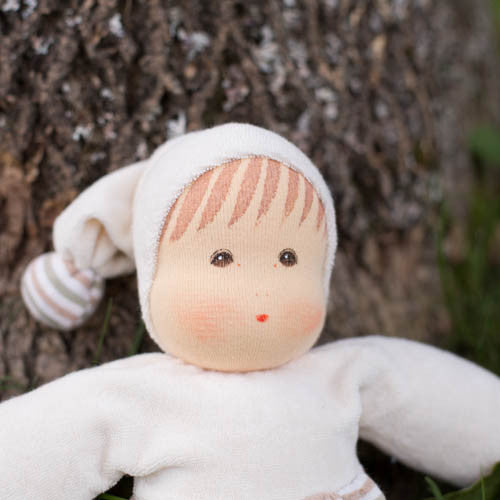 Nanchen Organic Waldorf Doll - Close-up Face