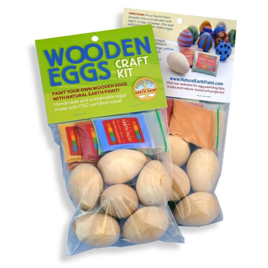 Wooden Egg-Painting Craft Kit