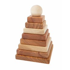 Natural Pyramid Stacker - Wooden Story - Bella Luna Toys