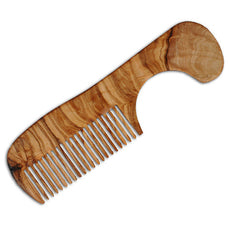Child's Olive Wood Comb with Handle, Made in Germany