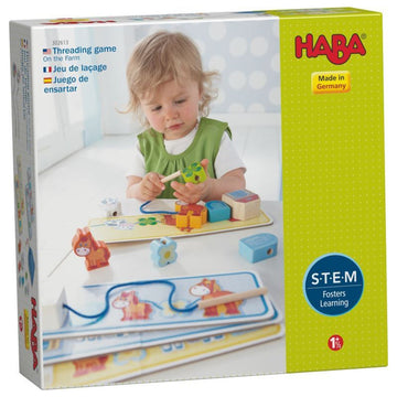 On the Farm Threading Game - Haba German Toy