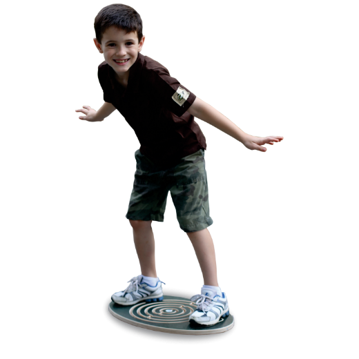 Balancing on Wooden Balance Board Sprint