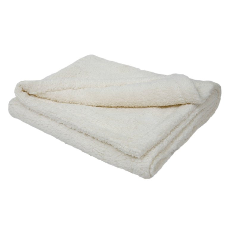 Organic White Cotton Plush Baby Blanket - Efie - Bella Luna Toys