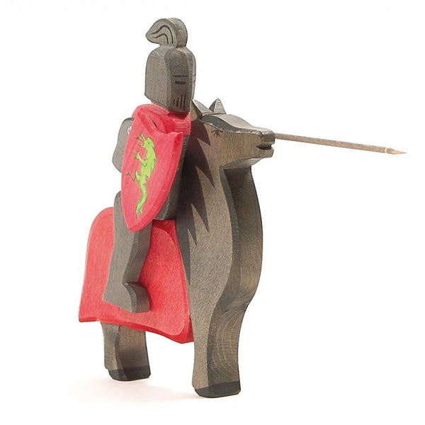 Ostheimer Black Knight Red Horse - St. George - Bella Luna Toys