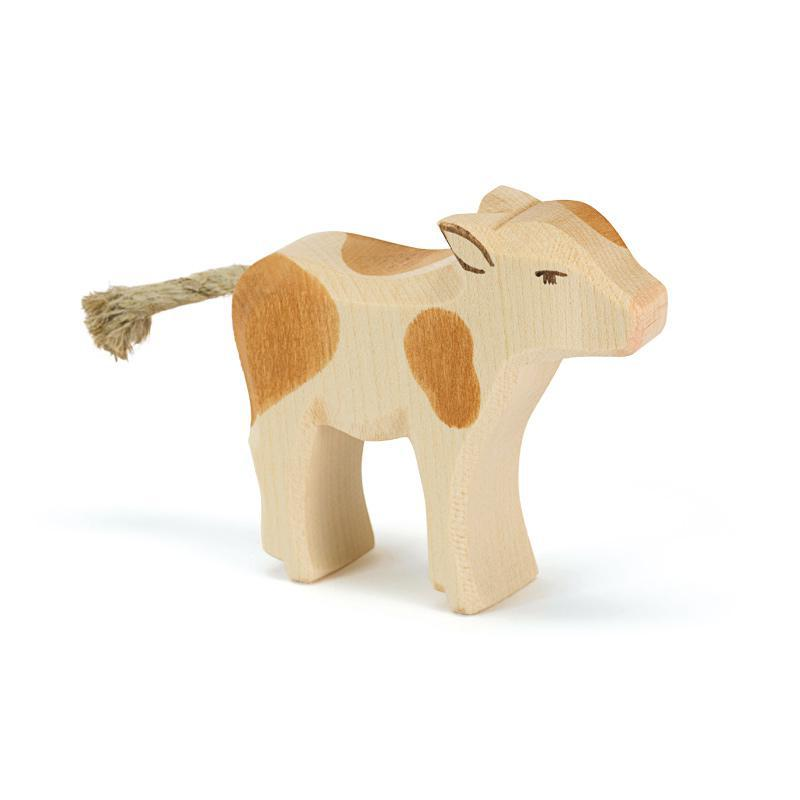 Ostheimer Brown and White Calf Standing - Bella Luna Toys