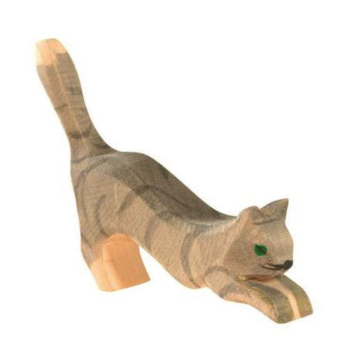 Ostheimer Cat, Gray Striped, Jumping 11402
