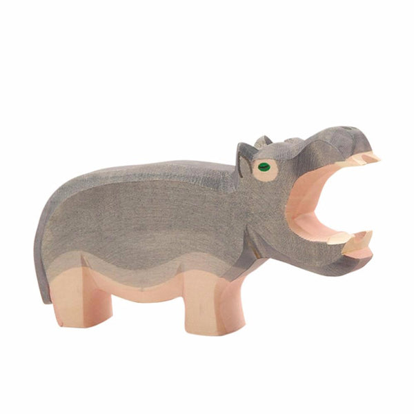 Ostheimer Hippo - Hippopotamus Wooden Toy Animal Figure - Bella Luna