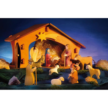 Ostheimer Nativity Boxed Set II - Wooden Figures - Bella Luna Toys