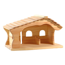 Wooden Nativity Stable/Manger for Ostheimer Figures