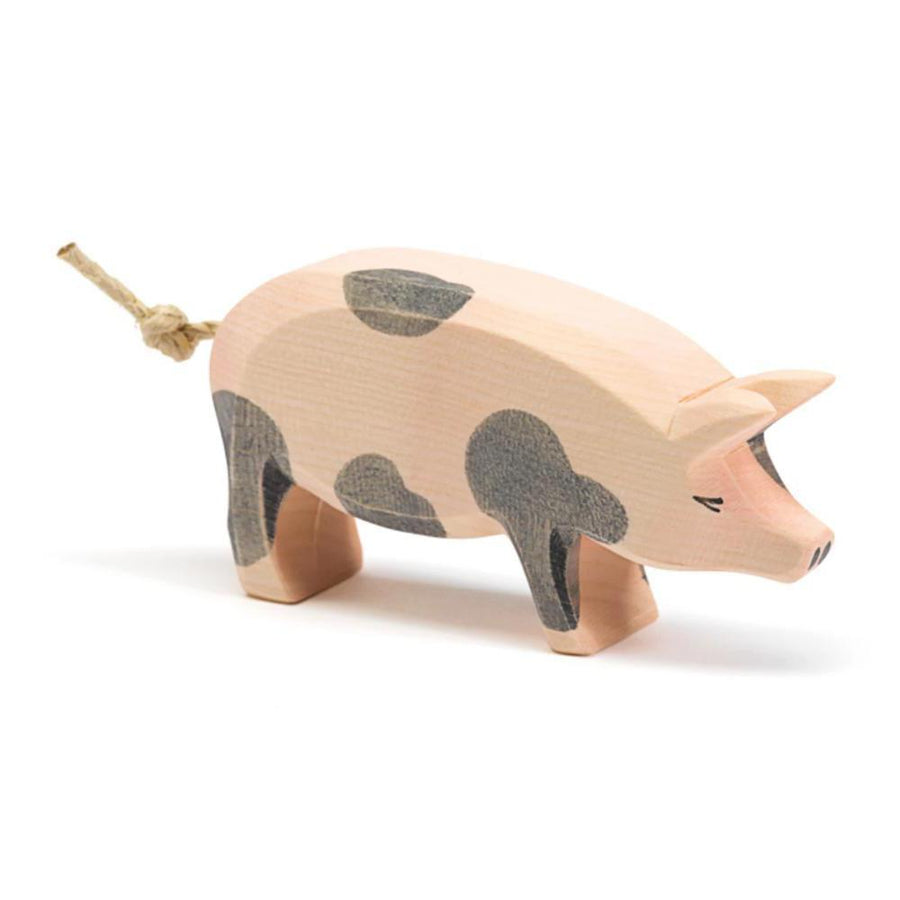 Ostheimer Spotted Pig - Head High - Wooden Farm Animals - Bella Luna Toys