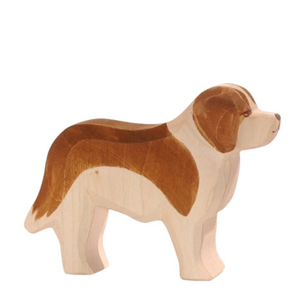 Ostheimer Saint Bernard Dog - Wooden Toy Animal Figure