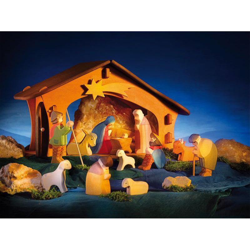 Ostheimer 13 Piece Nativity Set With Stable