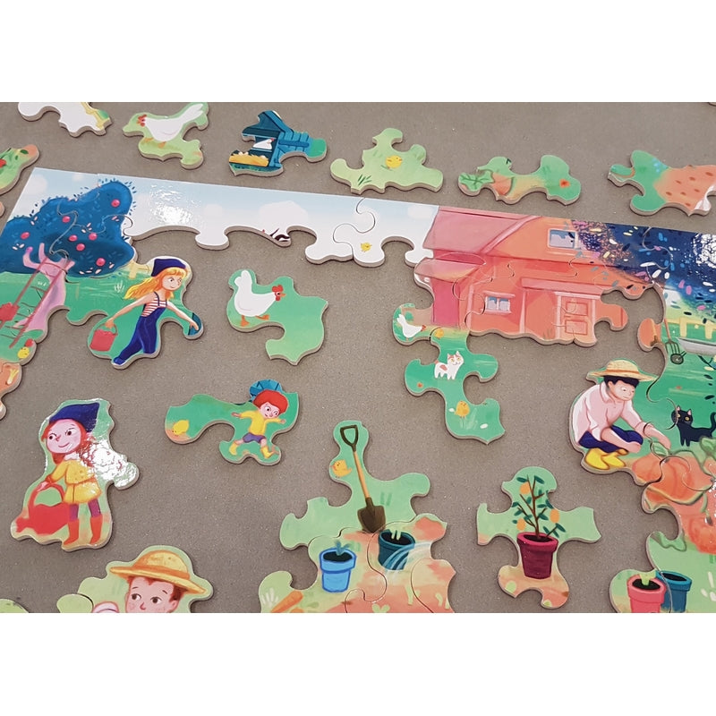 The Pumpkin Family - Wooden Jigsaw Puzzle