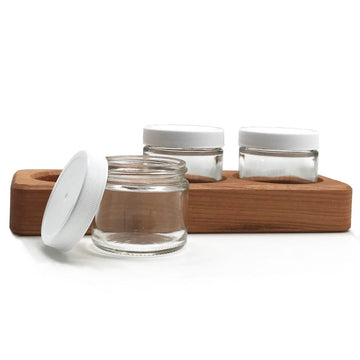 Wooden Paint Jar Holder - Three Jar Holder - Bella Luna Toys