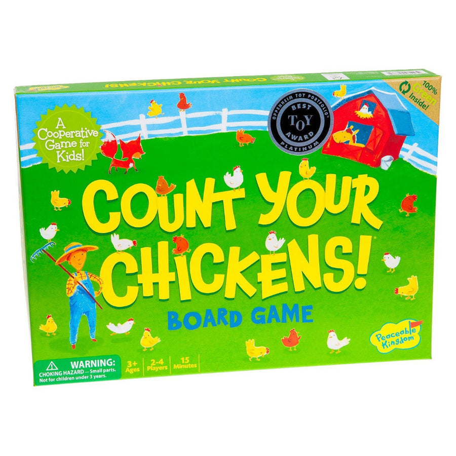 Peaceable Kingdom | Count Your Chickens Cooperative Board Game | Bella Luna Toys