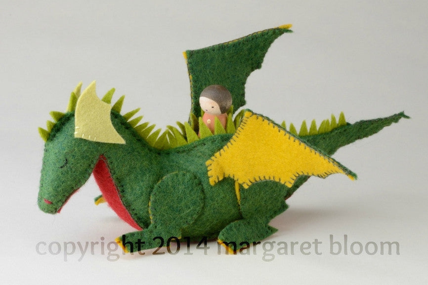 Peg Doll and Felt Dragon